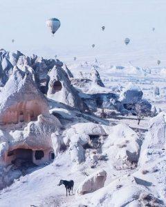 Passeio de Balão na Capadócia no Inverno