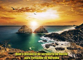 Qual a distância do aeroporto de Recife para Fernando de Noronha